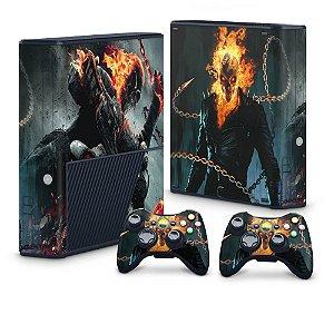 Xbox 360 Super Slim Skin - Ghost Rider - Motoqueiro Fantasma #B