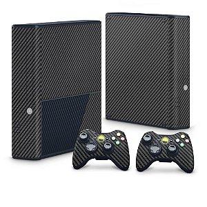 Xbox 360 Super Slim Skin - Fibra de Carbono Preto