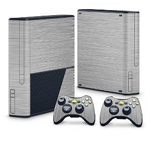 Xbox 360 Super Slim Skin - Aço Escovado Prateado