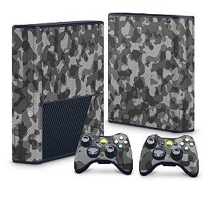 Xbox 360 Super Slim Skin - Camuflagem Cinza