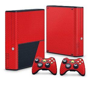 Xbox 360 Super Slim Skin - Fibra de Carbono Vermelho
