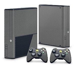 Xbox 360 Super Slim Skin - Fibra de Carbono Cinza Grafite