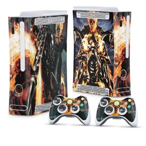 Xbox 360 Fat Skin - Ghost Rider - Motoqueiro Fantasma #A