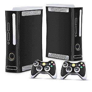 Xbox 360 Fat Skin - Fibra de Carbono Preto