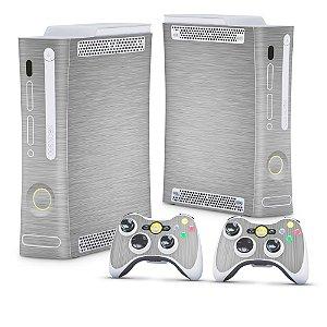 Xbox 360 Fat Skin - Aço Escovado Prateado