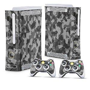 Xbox 360 Fat Skin - Camuflagem Cinza