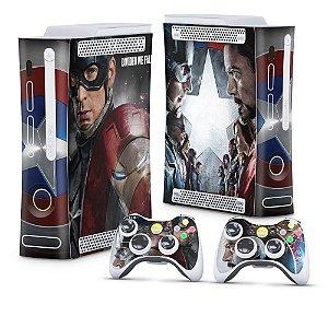 Xbox 360 Fat Skin - Capitão America Guerra Civil