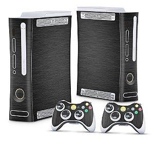 Xbox 360 Fat Skin - Aço Escovado Preto
