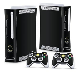 Xbox 360 Fat Skin - Preto Black Piano