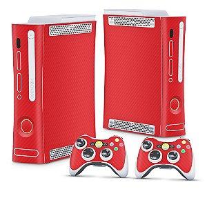 Xbox 360 Fat Skin - Fibra de Carbono Vermelho