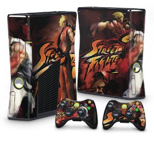 Xbox 360 Slim Skin - Street Fighter 4 #A