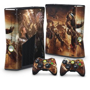 Xbox 360 Slim Skin - Gears of War 2