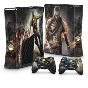 Xbox 360 Slim Skin - Infamous