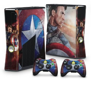 Xbox 360 Slim Skin - Capitão América