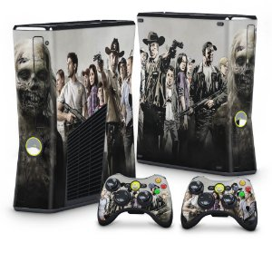 Xbox 360 Slim Skin - The Walking Dead #A