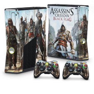 Xbox 360 Slim Skin - Assassins Creed IV Black Flag