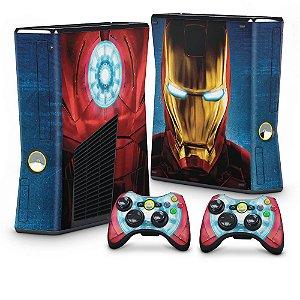 Xbox 360 Slim Skin - Iron Man - Homem de Ferro #B