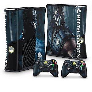 Xbox 360 Slim Skin - Mortal Kombat X Subzero