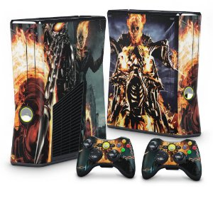 Xbox 360 Slim Skin - Ghost Rider - Motoqueiro Fantasma #A
