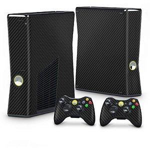Xbox 360 Slim Skin - Fibra de Carbono Preto