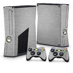Xbox 360 Slim Skin - Aço Escovado Prateado