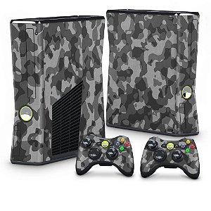 Xbox 360 Slim Skin - Camuflagem Cinza