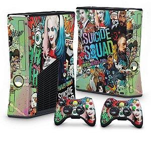 Xbox 360 Slim Skin - Esquadrão Suicida #A