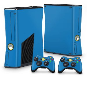 Xbox 360 Slim Skin - Azul Claro