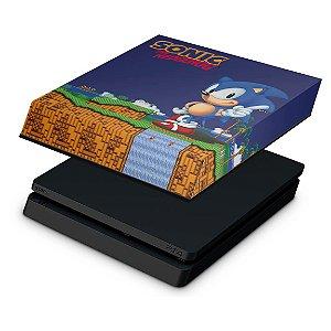 PS4 Slim Capa Anti Poeira - Sonic The Hedgehog