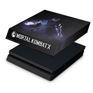 PS4 Slim Capa Anti Poeira - Mortal Kombat X - Sub Zero