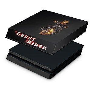 PS4 Slim Capa Anti Poeira - Ghost Rider #A