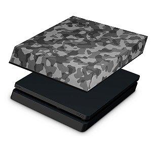 PS4 Slim Capa Anti Poeira - Camuflagem Cinza