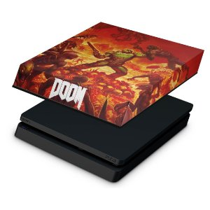 PS4 Slim Capa Anti Poeira - Doom