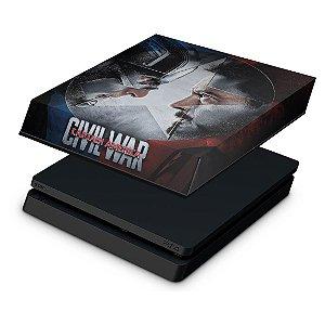 PS4 Slim Capa Anti Poeira - Capitão America - Guerra Civil