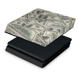 PS4 Slim Capa Anti Poeira - Dollar Money Dinheiro