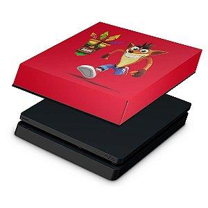 PS4 Slim Capa Anti Poeira - Crash Bandicoot