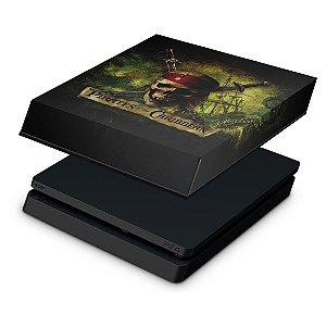 PS4 Slim Capa Anti Poeira - Piratas do Caribe