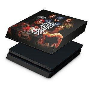 PS4 Slim Capa Anti Poeira - Liga Da Justiça
