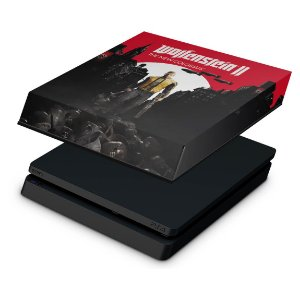 PS4 Slim Capa Anti Poeira - Wolfenstein 2 New Order