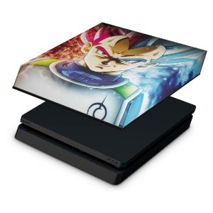 PS4 Slim Capa Anti Poeira - Dragon Ball Super Vegeta SSJ GOD