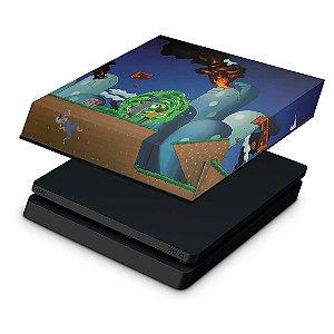 PS4 Slim Capa Anti Poeira - Rick And Morty Mario