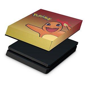 PS4 Slim Capa Anti Poeira - Pokemon Charmander