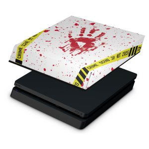 PS4 Slim Capa Anti Poeira - Cena de Crime Scene