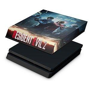 PS4 Slim Capa Anti Poeira - Resident Evil 2 Remake