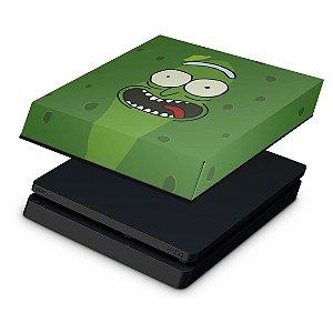 PS4 Slim Capa Anti Poeira - Pickle Rick and Morty