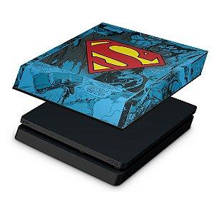 PS4 Slim Capa Anti Poeira - Super Homem Superman Comics