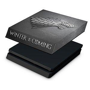 PS4 Slim Capa Anti Poeira - Game Of Thrones Stark