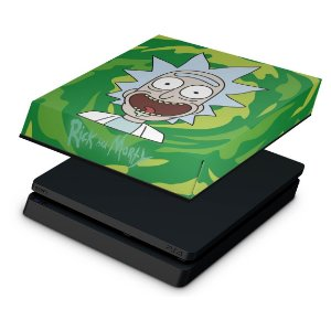 PS4 Slim Capa Anti Poeira - Rick Rick and Morty