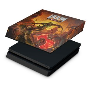 PS4 Slim Capa Anti Poeira - Doom Eternal