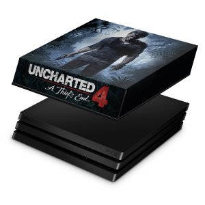 PS4 Pro Capa Anti Poeira - Uncharted 4